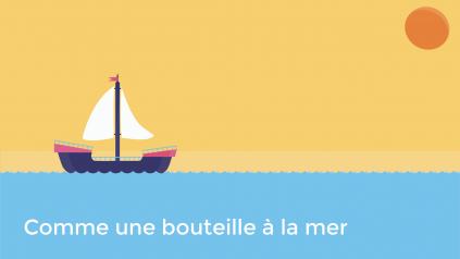 Affiche de Comme une bouteille à la mer